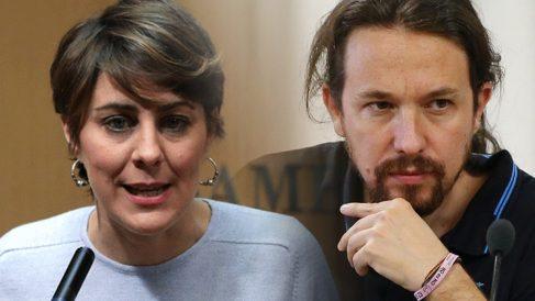 Lorena Ruiz-Huerta y Pablo Iglesias.
