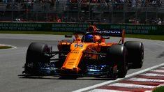 Fernando Alonso tuvo que abandonar por problemas mecánicos el GP de Canadá. (Getty)