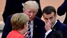 Angela Merkel, Donald Trump y Emmanuel Macron (Foto: GETTY).