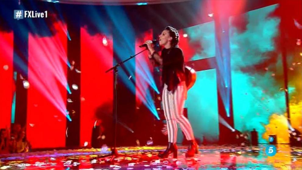 Elena Farga ha sido una de las actuaciones de la noche en 'Factor X'. (Foto: Telecinco)