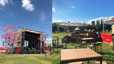 El festival Paraíso ya tiene montadas las distintas áreas en las que se organizará el festival.