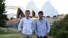 Goiko y Pablo en Australia. Fundadores de GrowPro (Foto: GrowPro)