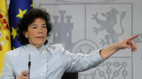 La portavoz y ministra de Educación Isabel Celaá.