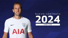 Harry Kane ha renovado hasta el año 2024.