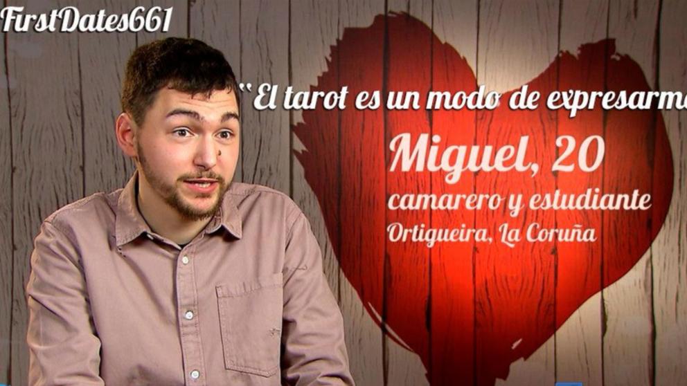 Miguel, el tarotista de 'First Dates' se ha ido de vacío. (Foto: Cuatro)