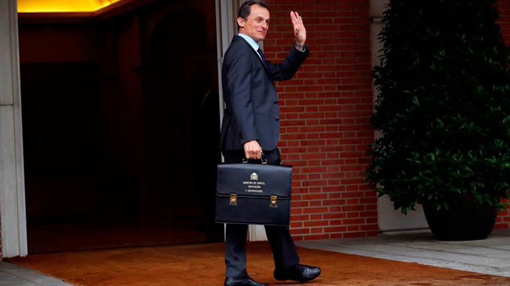 Pedro Duque, ministro del Gobierno de Pedro Sánchez. Foto: EFE