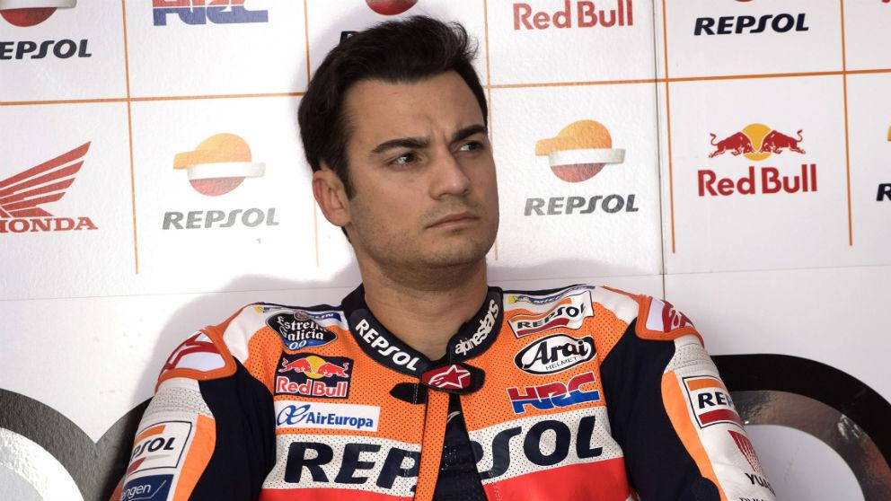 Dani Pedrosa , en un Gran Premio. (Getty)