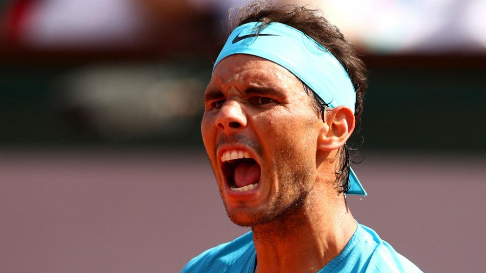 Rafa Nadal celebra su victoria en Roland Garros ante Del Potro. (Getty)