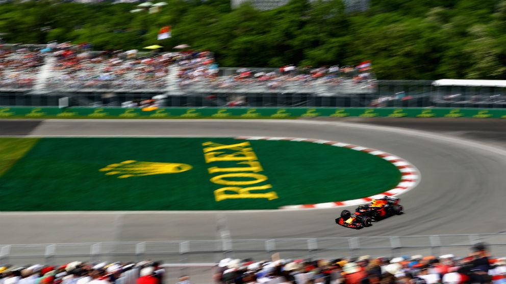 Max Verstappen ha dominado la primera sesión de entrenamientos libres del GP de Canadá de Fórmula 1, en la que los españoles Alonso y Sainz han sido séptimo y octavo respectivamente. (Getty)