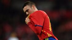 Iago Aspas celebra un gol con la Selección (EFE).