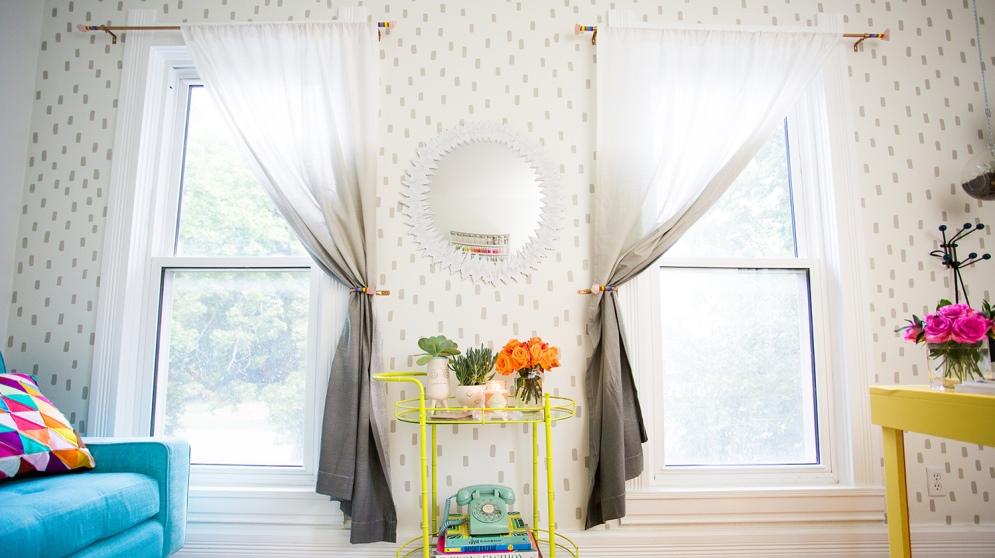 Todos los pasos necesarios para teñir cortinas con efecto degradado
