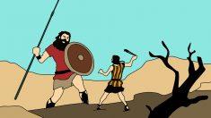 La lucha de David y Goliat o cómo el pequeño puede ganar al grande.