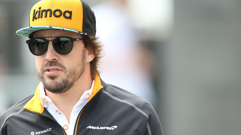 Fernando Alonso, en el Gran Premio de Canadá de Fórmula 1. (Getty)