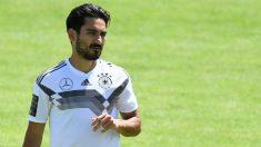 Gündogan, en un entrenamiento con Alemania. (AFP)