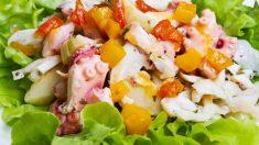 Receta de Pulpo con alcachofas fácil de preparar