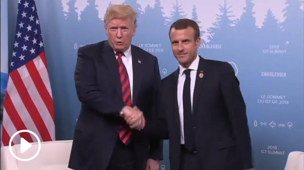 Donald Trump y Macron
