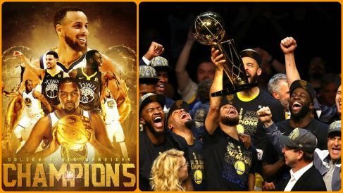 Los Golden State Warriors de Durant y Curry, campeones de la NBA 2018. (@NBAspain)