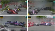 Así ha sido el espectacular accidente en el GP de Canadá de Fórmula 1. (MovistarF1)