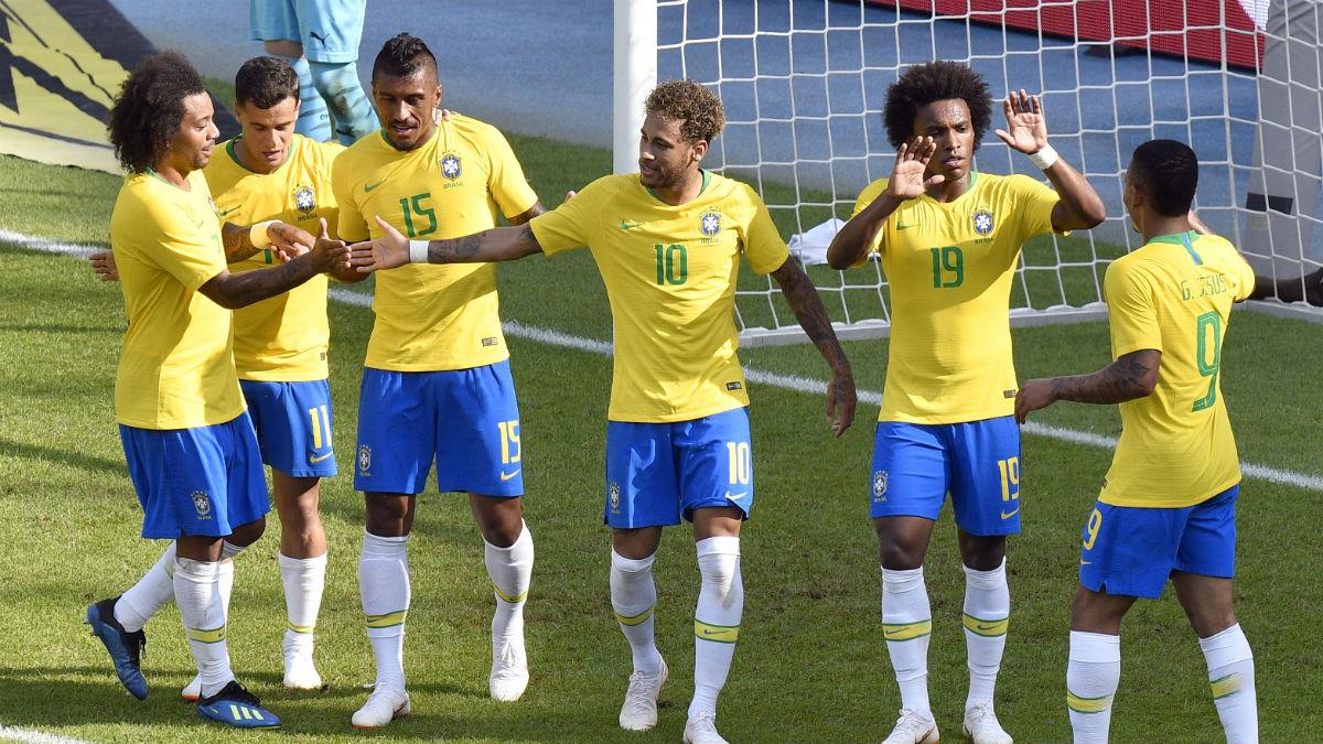 Brasil es la única de las principales candidatas que gana y convence antes de Rusia (AFP).