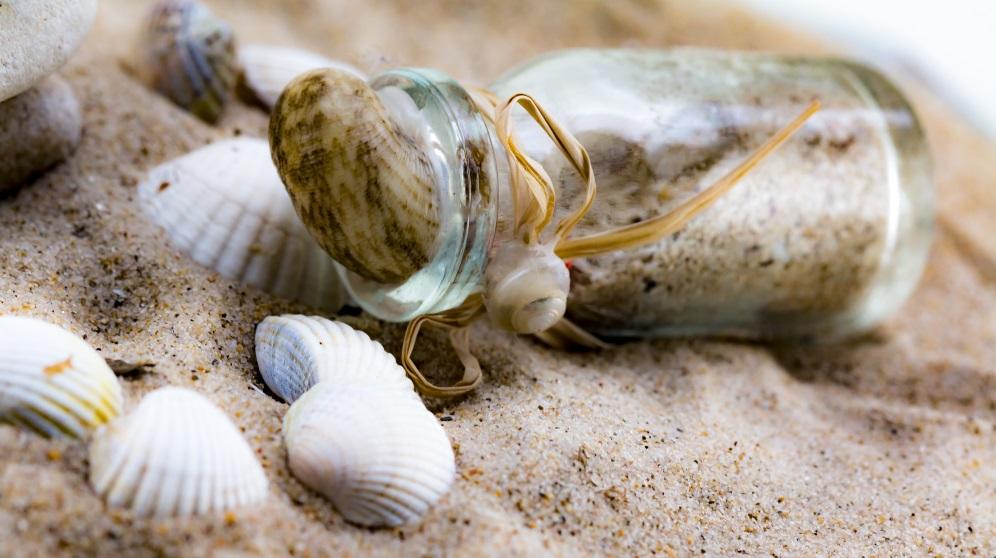 Cómo decorar con arena de playa de forma original