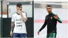 Messi y Cristiano serán vecinos en el Mundial. (AFP)