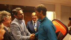 El ministro de cultura y deporte, Màxim Huerta felicita a Rafa Nadal. (Twitter CSD)