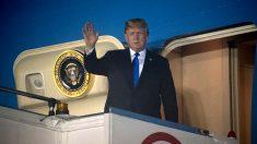 Trump a su llegada a Singapur (Foto: AFP).