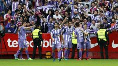 El Valladolid gana en Gijón y se jugará el ascenso contra el Numancia (EFE).