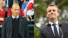 Zinedine Zidane y Emmanuel Macron.