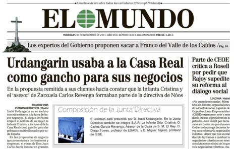 Portada de El Mundo 30-11-2011