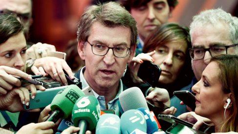 Alberto Núñez Feijóo, en la Junta directiva del PP. (EFE)