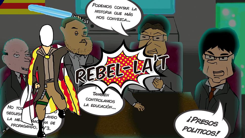 El cómic antiadoctrinamiento separatista con Torra, Puigdemont o Junqueras como 'villanos'
