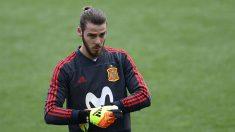 David-De-Gea,-durante-un-entrenamiento-con-la-selección-española-previo-al-Mundial-de-Rusia-(AFP)