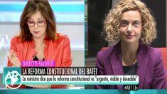 Meritxell Batet en 'El programa de Ana Rosa'.