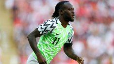 Victor Moses, durante un partido con la selección nigeriana de fútbol. (Getty)