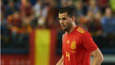 NAcho, durante uno de los últimos amistosos de España (Getty).