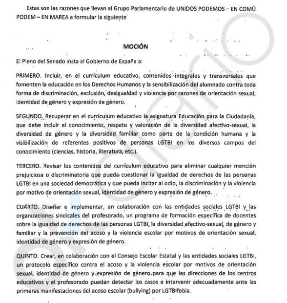 PSOE y Podemos quieren recuperar la polémica Educación para la Ciudadanía