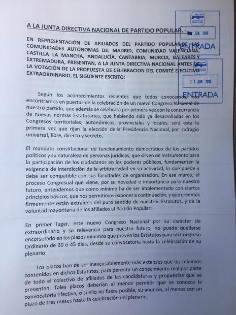 Afiliados del PP de ocho comunidades piden que la elección del nuevo líder se aplace al menos tres meses