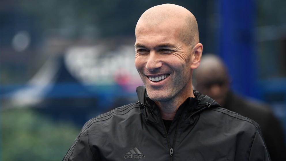 Zidane, durante un acto de Adidas. (AFP)