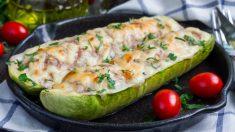 Receta de calabacines rellenos gratinados con mayonesa