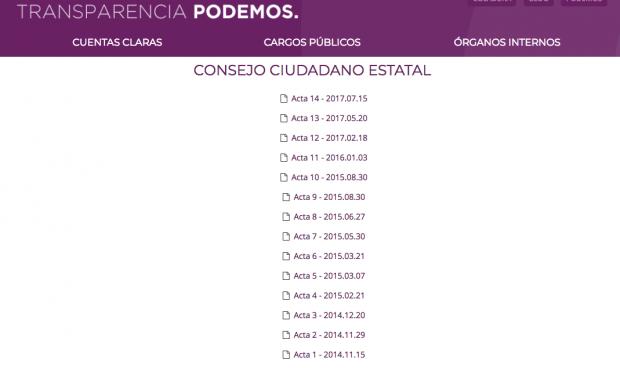 La transparencia de Podemos: un año sin publicar las actas de las reuniones de sus dirigentes