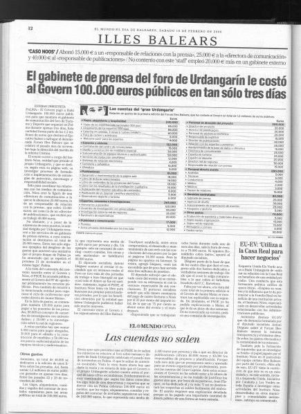 Información de Eduardo Inda y Esteban Urreiztieta en El Mundo el 18 de febrero de 2006
