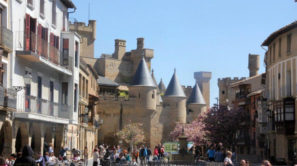 Castillo de Olite, en pleno Festival de Teatro.