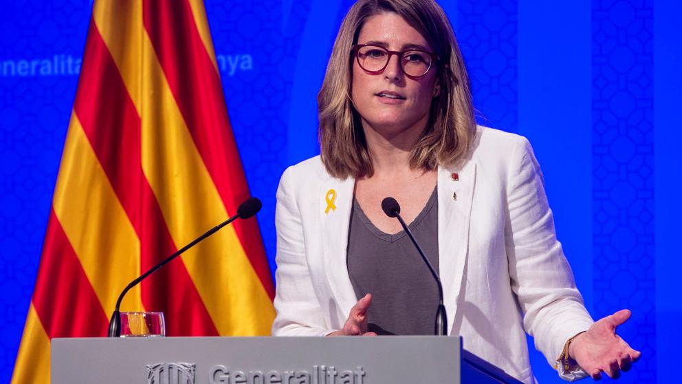 Elsa Artadi, consejera de la Presidencia y portavoz del Gobierno de la Generalitat de Cataluña. (Foto: EFE)