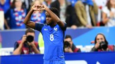 Lemar celebra un gol con Francia. (Getty)