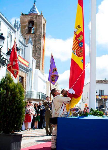 Fregenal: el pueblo del sur de Extremadura que jura la bandera de España en masa