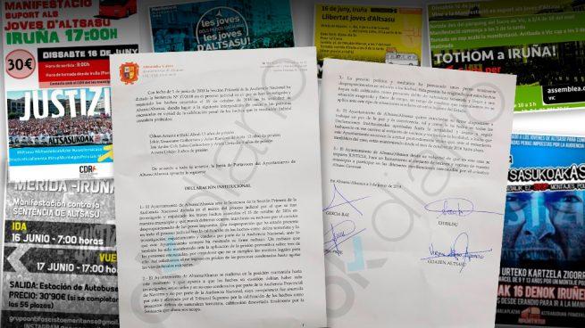 La ultraizquierda fleta autobuses en toda España para apoyar a los agresores de Alsasua en Pamplona