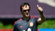 Lopetegui, dirigiendo a la Selección (AFP).