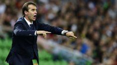 Julen Lopetegui durante un partido de la selección española. (AFP)