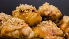 Receta de pollo al horno con queso y perejil fácil de preparar